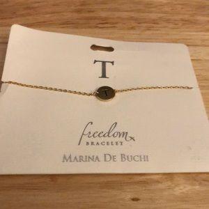 T Initial Name Bracelet